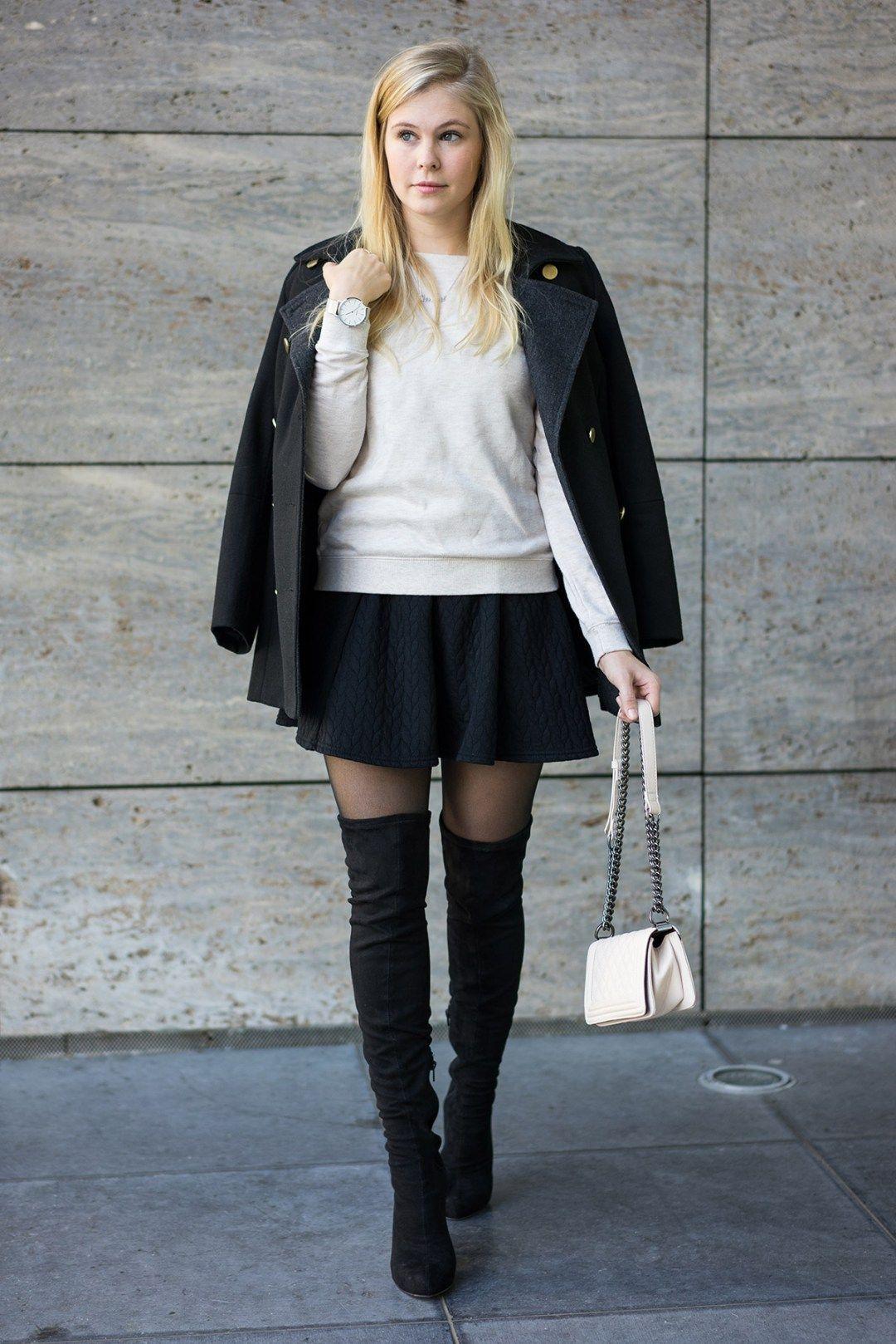 301e9fa8c76 Schwarze Overknees - Das perfekte Outfit by Sunnyinga - Fashion Blog ...