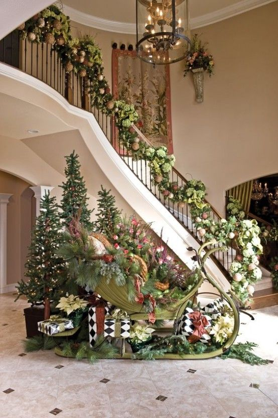 how to decorate your stairs with lighted garland description from pinterestcom i searched for this on bingcomimages