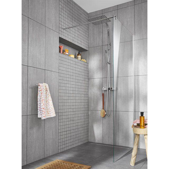Carrelage Sol Et Mur Anthracite X Cm COLOURS Oikos - Carrelage sol salle de bain castorama