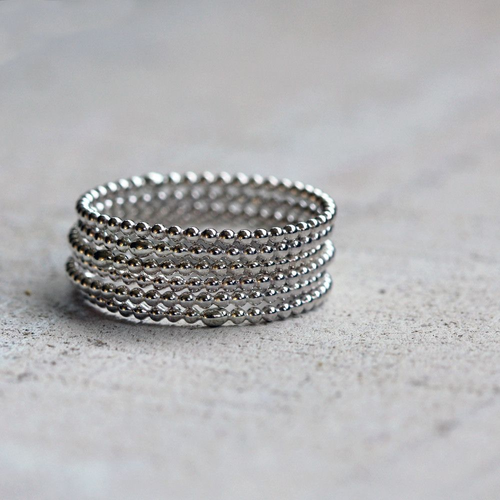 Bead wire stacking rings | Beads, Ring and Jewelry ideas