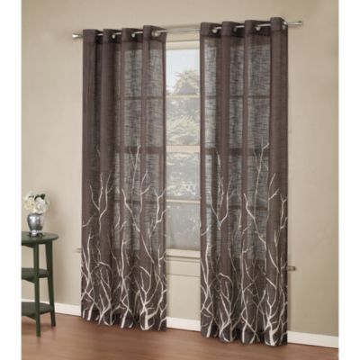 Bed Bath u0026 Beyond Alton Print 95Inch Grommet Top Panel in Blue  Window curtains, Window and
