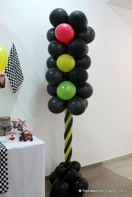 Semáforo con globos Máxi Pinterest Globo, Cumpleaños y Rayo