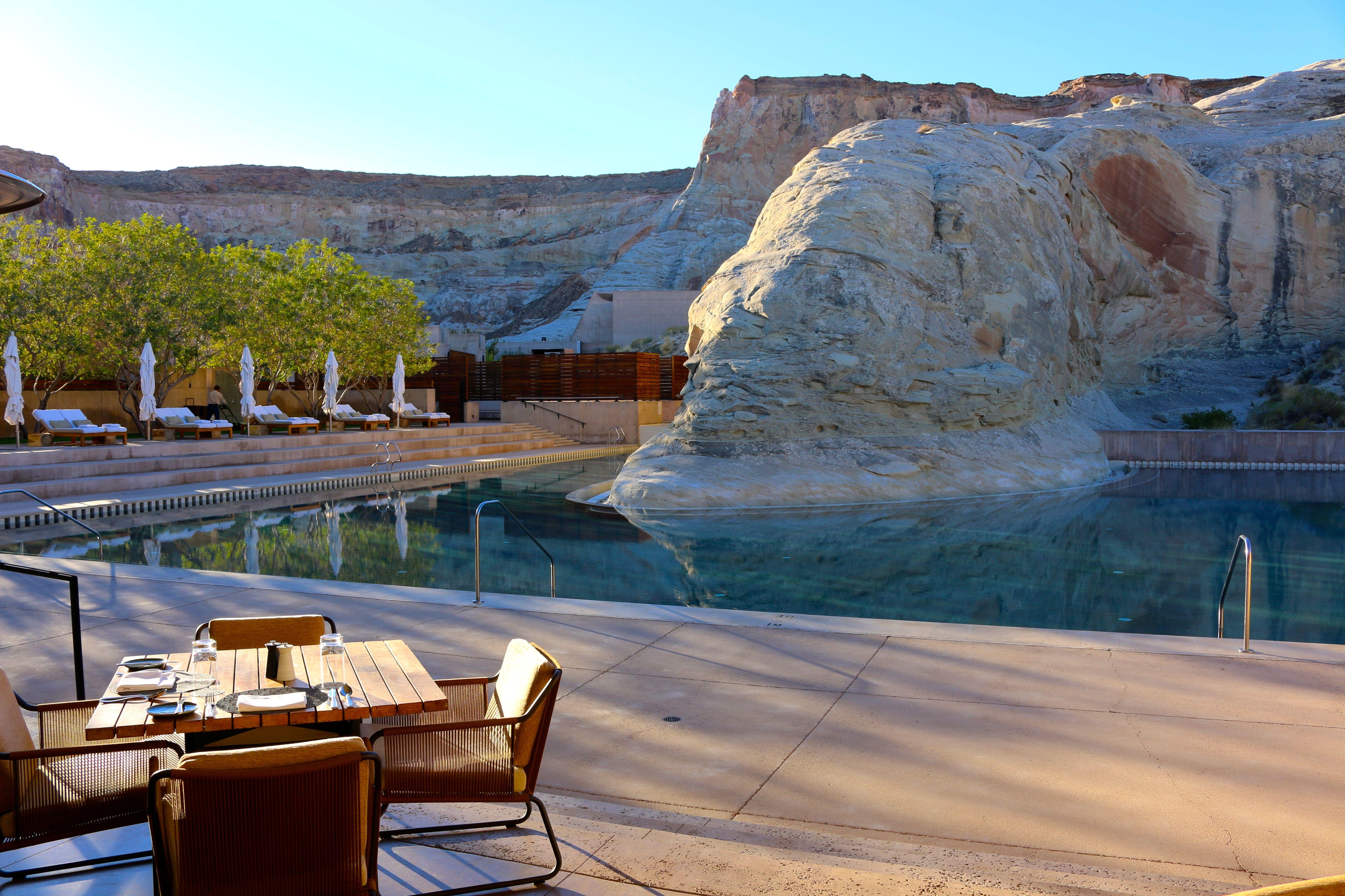 Amangiri the resorts stunning pool luxury hotel utah amangiri aman