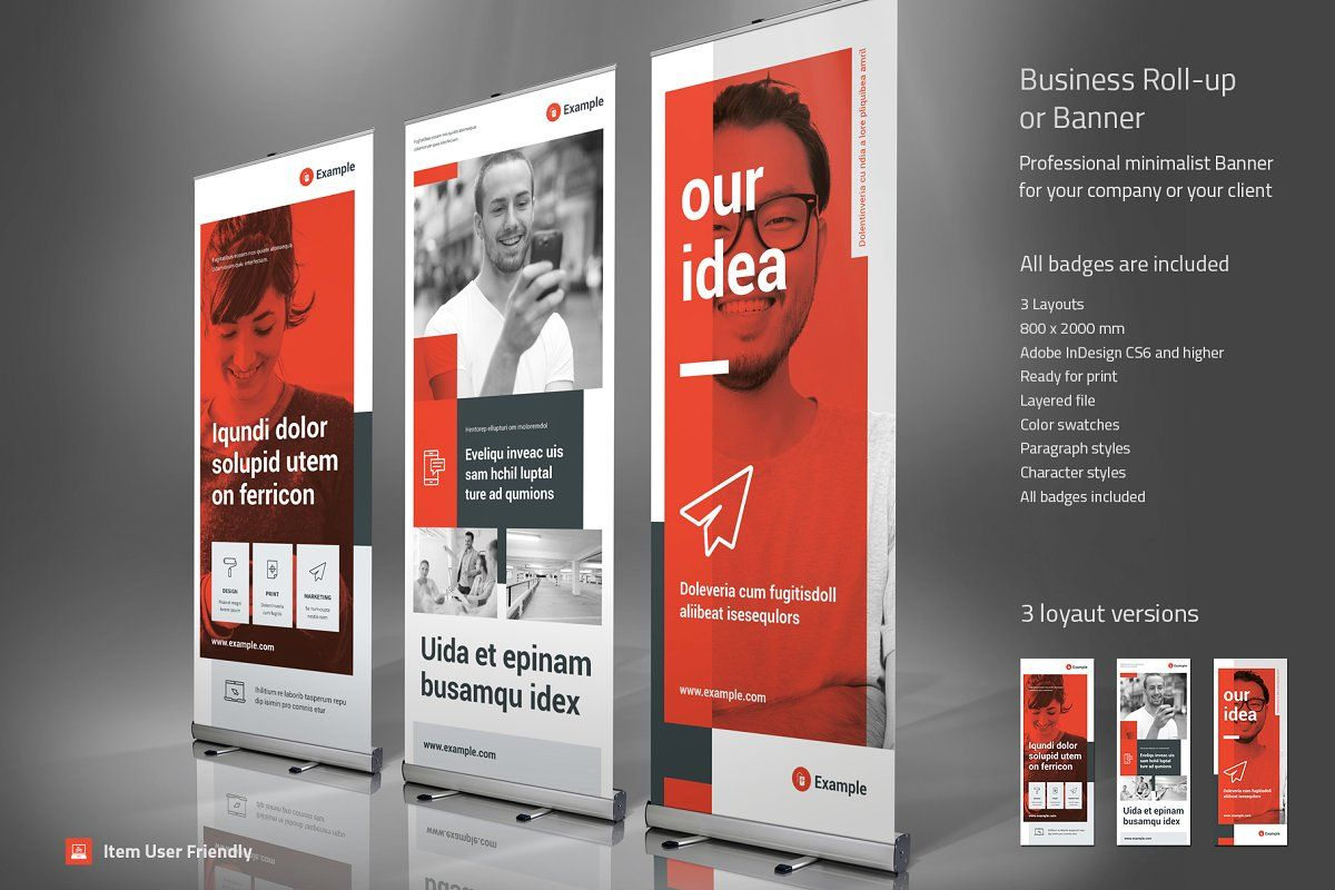 Business Roll-Up Vol. 19 #Sponsored , #Paid, #design#clean#rollup#banner