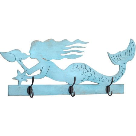 Mermaid Wood Wall Art coastal wood cutouts wall decor | mermaid rack, moby whale