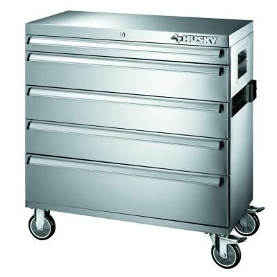 Husky 36 In 5 Drawer Tool Cabinet 36sscathd At The Home Depot Steel Tool Box Stainless Steel Tools Stainless Steel Tool Chest
