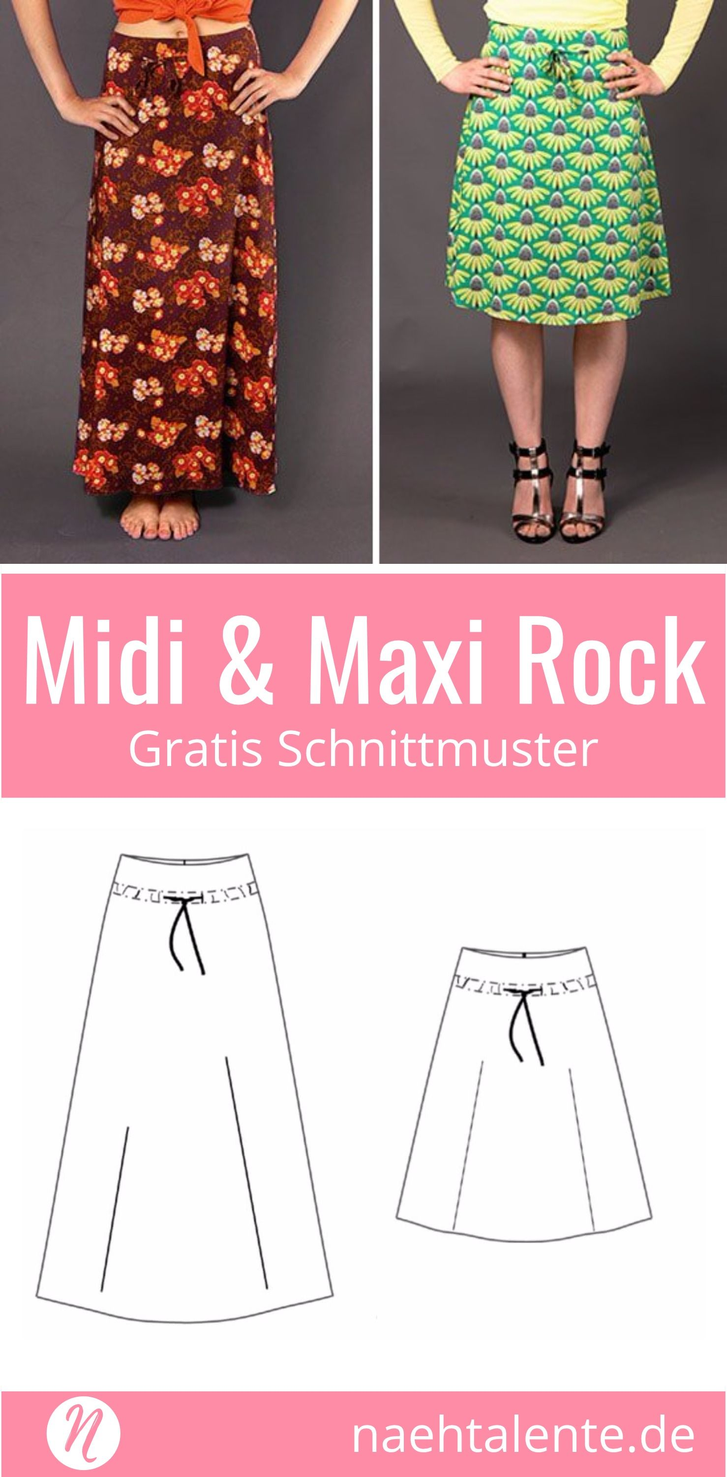 Rock in A-Linie in Midi & Maxi-Länge | Sewing ideas, Patterns and ...
