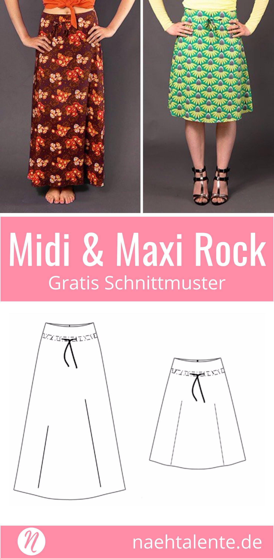 Rock in A-Linie in Midi & Maxi-Länge | Coudre, Coudre robe et Patron ...