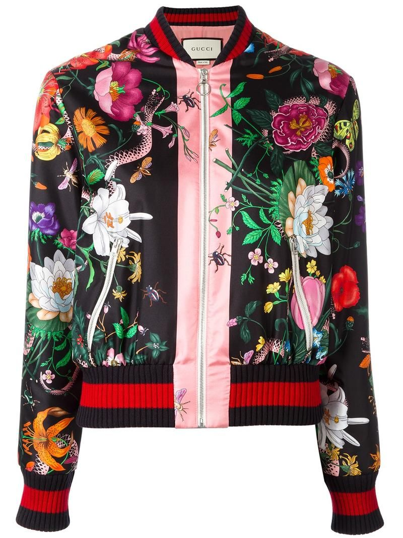 9bfdf8ea4c Gucci Chaqueta Bomber Con Estampado Floral. Chaqueta bomber con estampado
