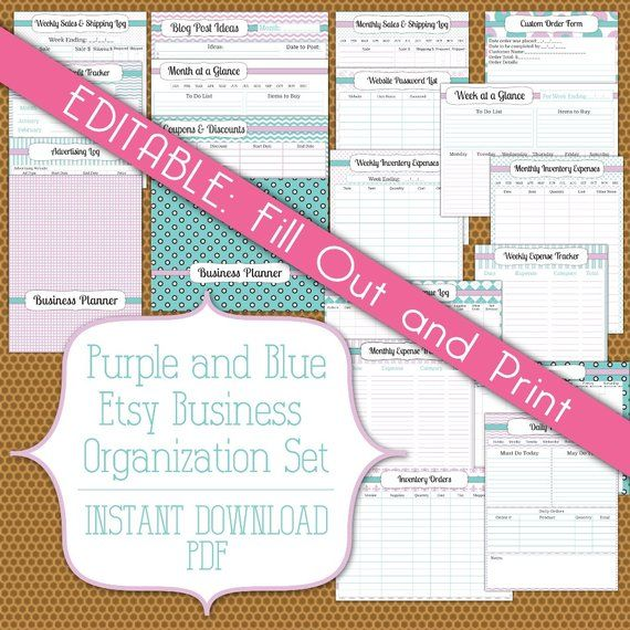 EDITABLE PDF Small Business And Blog Planner Instant