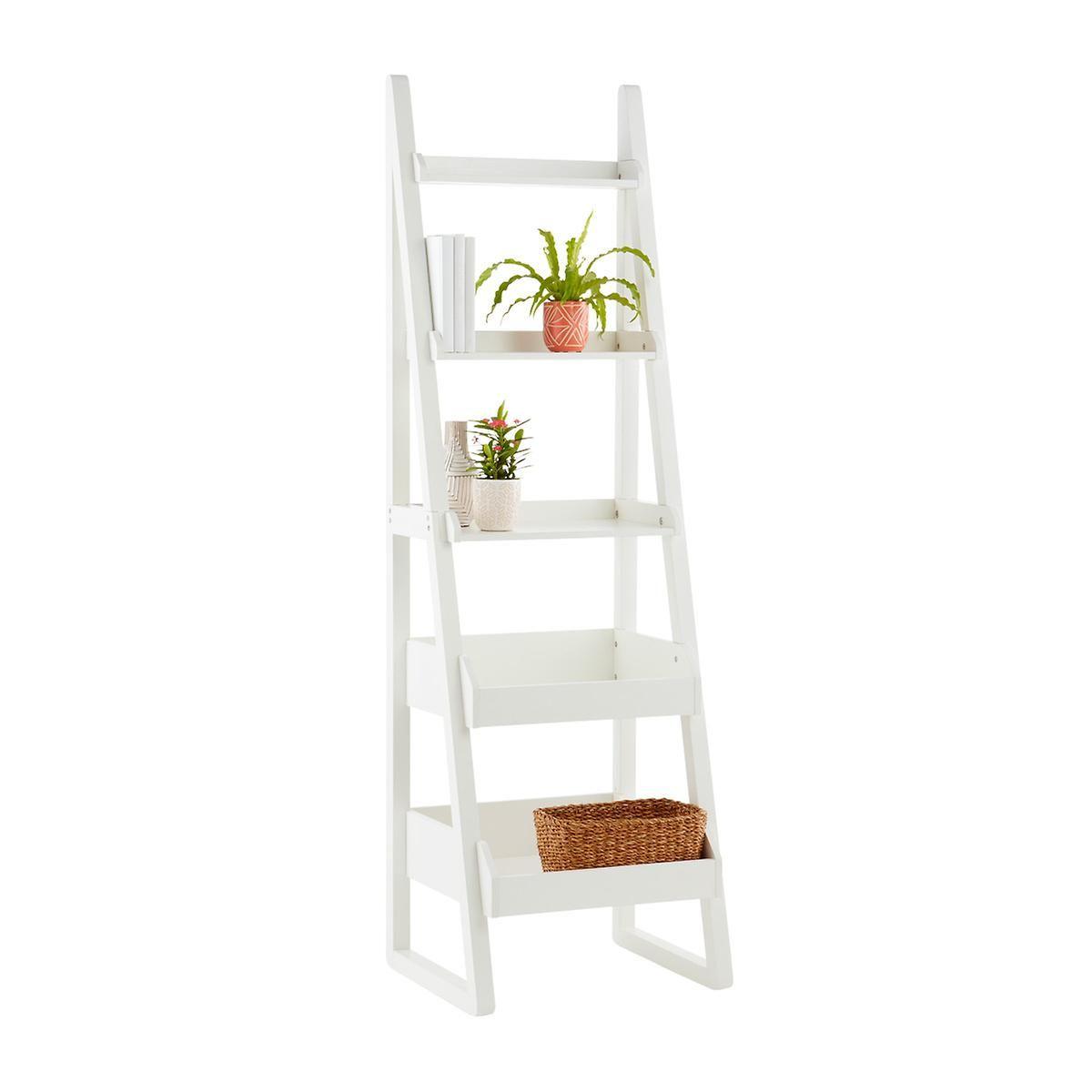 White Encore Narrow Bookshelf | Narrow bookshelf, Living ...