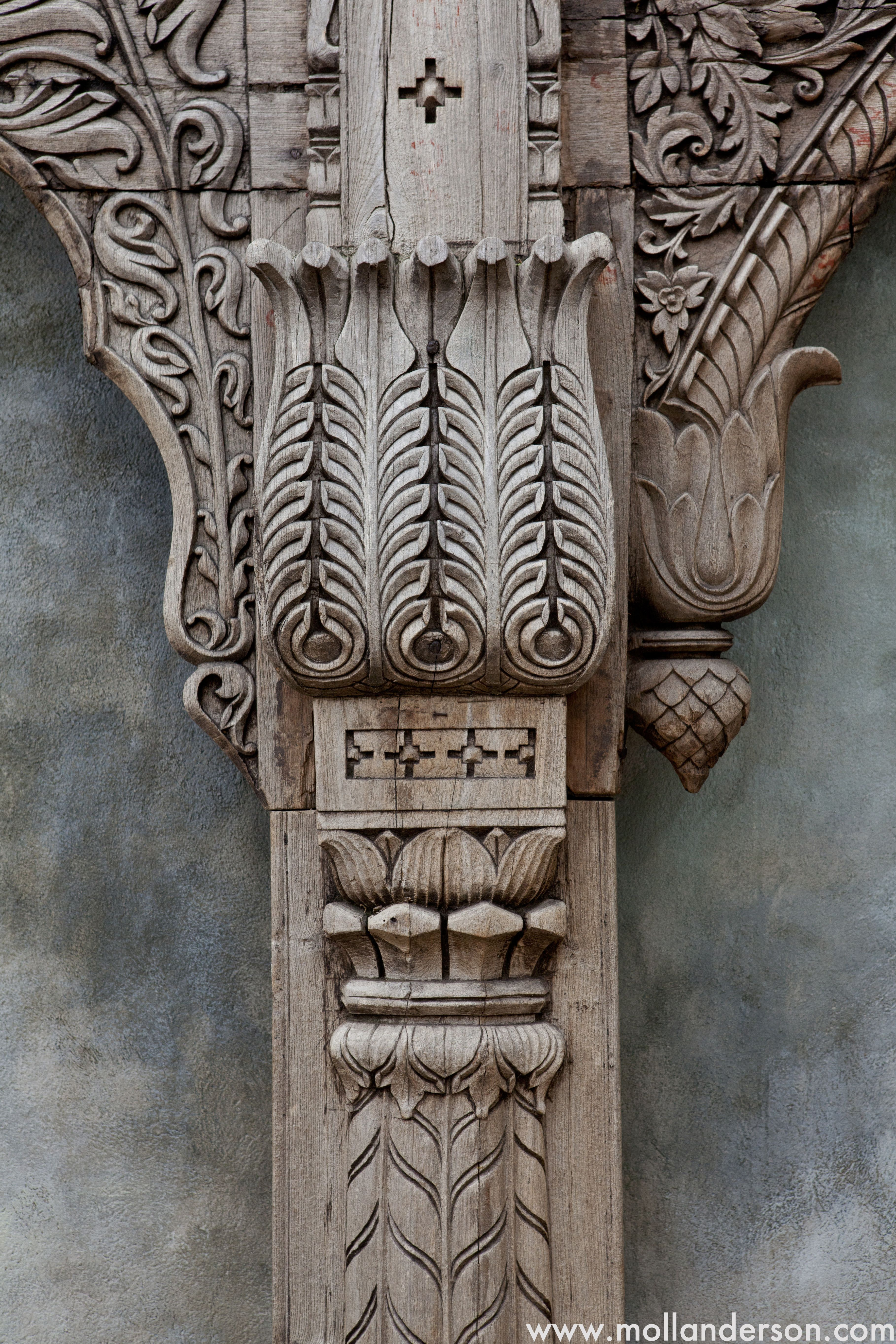 The detailed work in this old archway makes piece