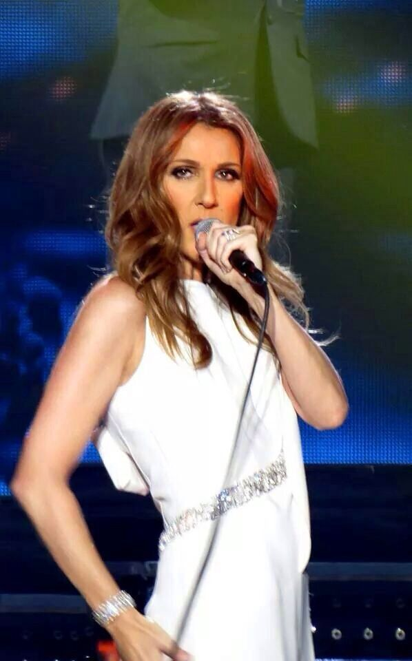 Celine in white.
