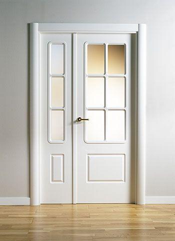80 SERIES – Indoor door / swing / wooden / lacquered by MARC…