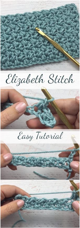 Elizabeth Stitch Easy Tutorial For Beginners + Simple & Free Video Guide #crochetstitches