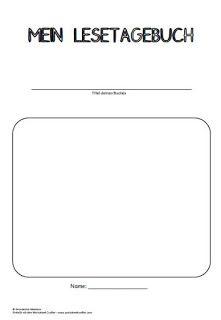 Lesetagebuch 1 Teil Grundschul Ideenbox Lesetagebuch Lesen Leseideen