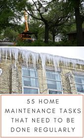 Photo of 55 Wartungsarbeiten zu Hause, die regelmäßig durchgeführt werden müssen, wenn Sie zu Hause sind …