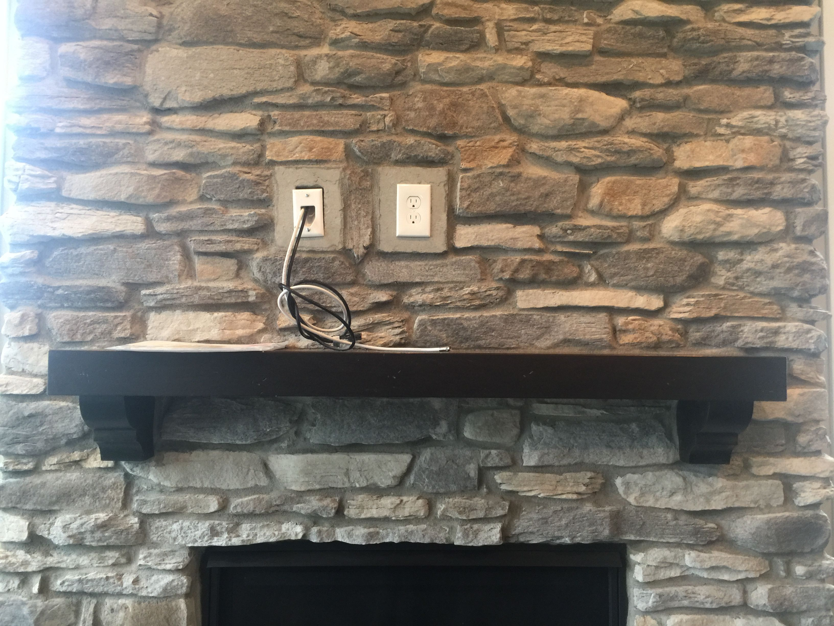 Tv Wiring Above Fireplace Electrical Pinterest House In Wall