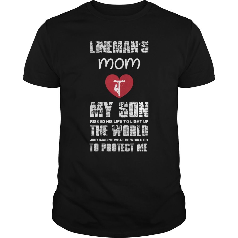 lineman's mom my son make your t shirt ,t shirt on ,tshirt store ...