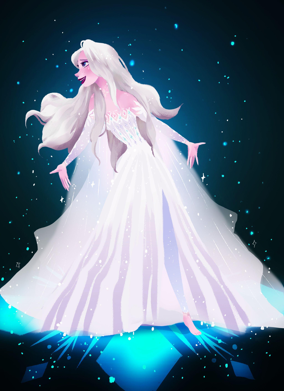 Frozen 2 Elsa Pretty Wallpaper Snow Queen Disney Queen Princess Animation Aesthetic Kartun Disney Karakter Disney Animasi Disney