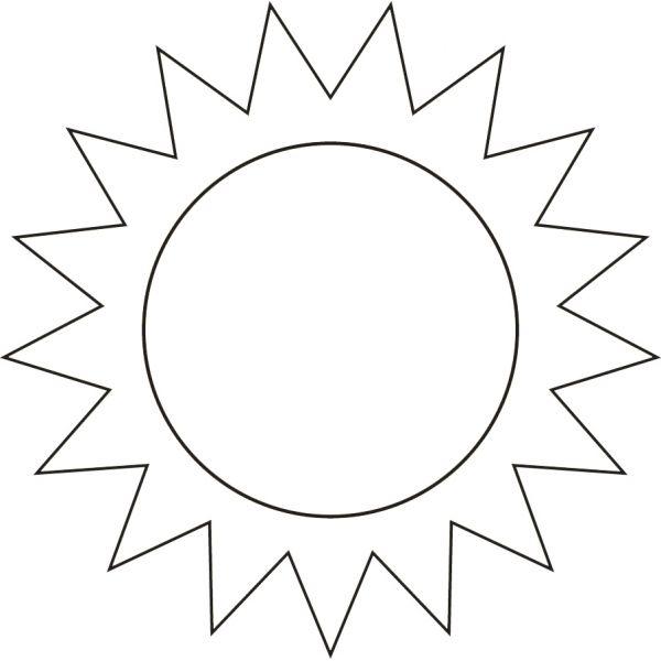 Disegno Di Il Sole Da Colorare Per Bambini Ricamo Per Neonato