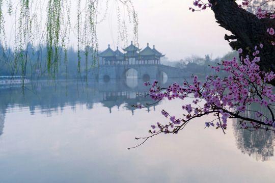 The Lotus Bridge at Slender West Lake, Yangzhou, China Eastern - chinesischer garten brucke