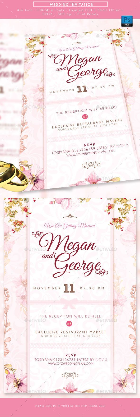 Wedding Invitations | Pinterest | Template, Font logo and Card templates
