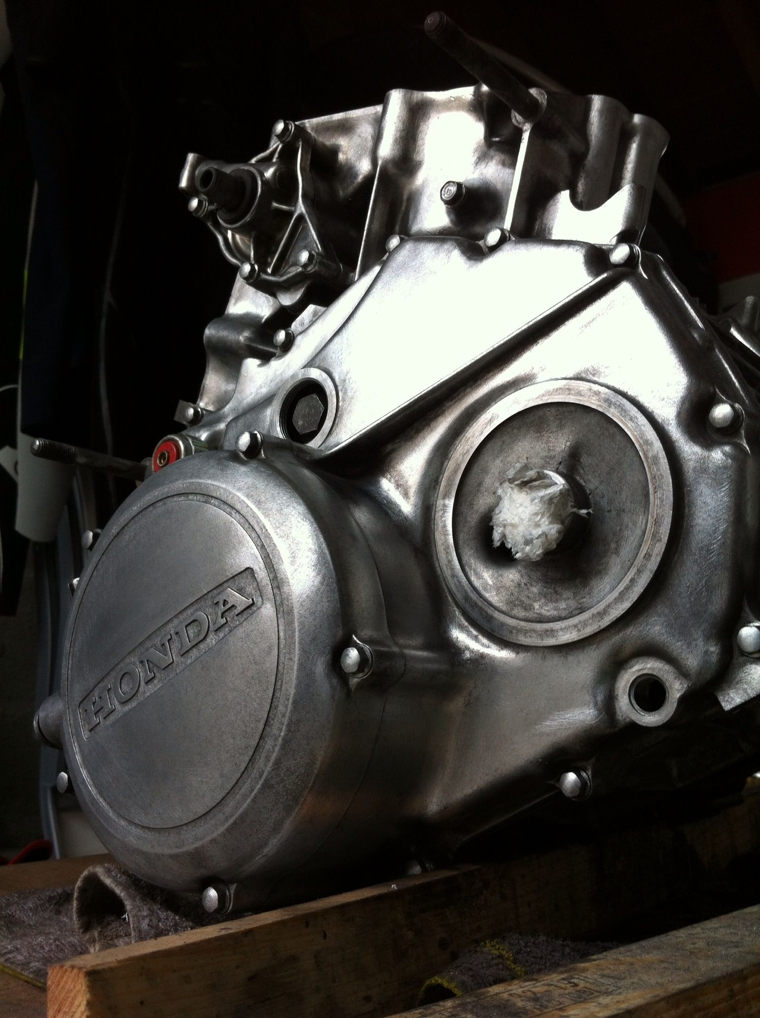 Engine under construction