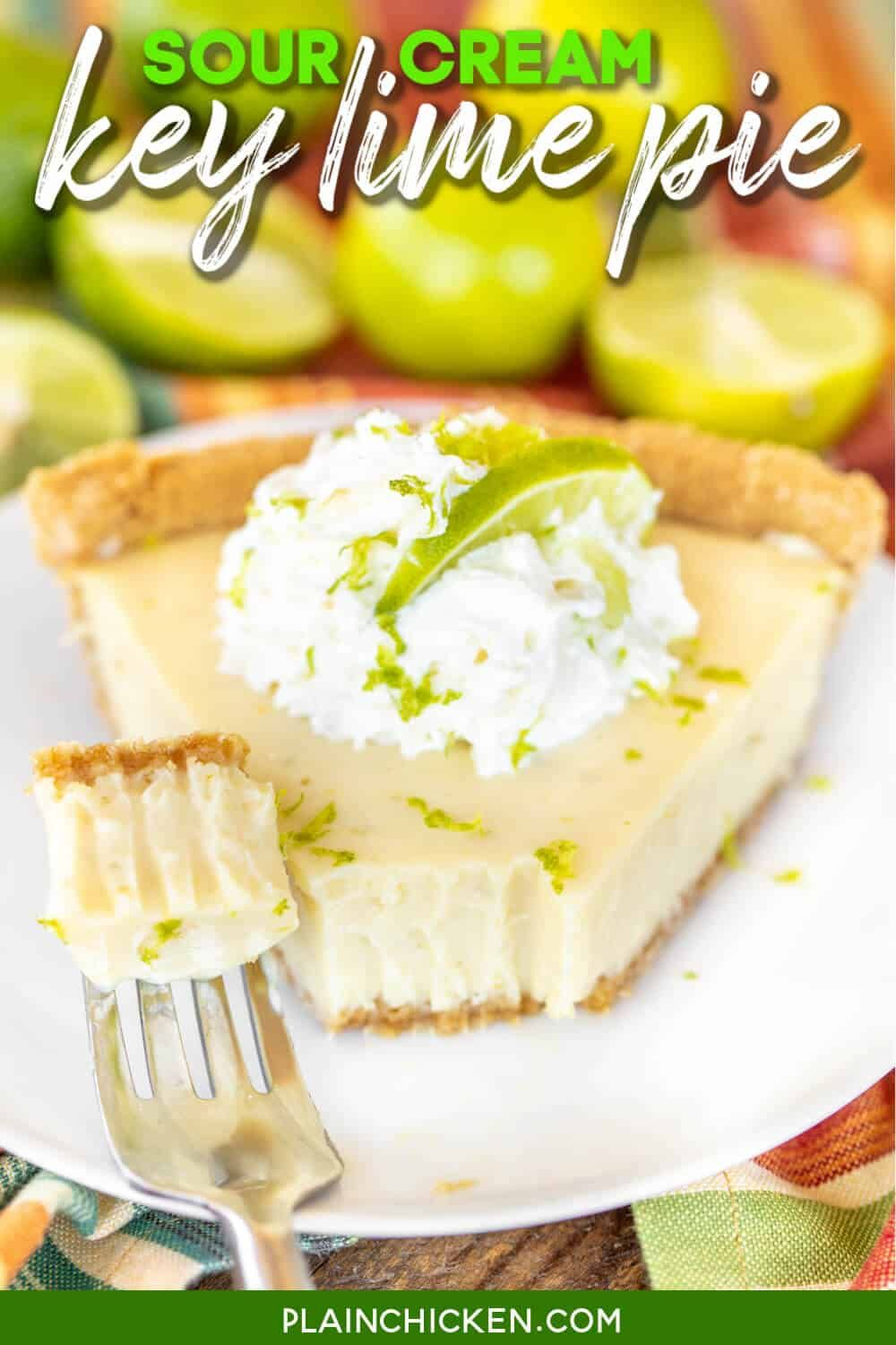 Sour Cream Key Lime Pie To Die For Delicious So Simple And It Tastes Amazing We Made Two Of These Pies In One In 2020 Lime Pie Recipe Keylime Pie Recipe Lime