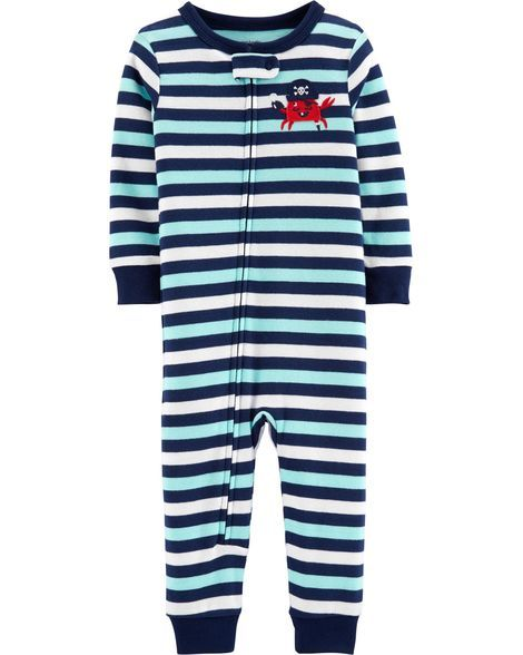 b6eeba4e2982 1-Piece Crab Snug Fit Cotton Footless PJs