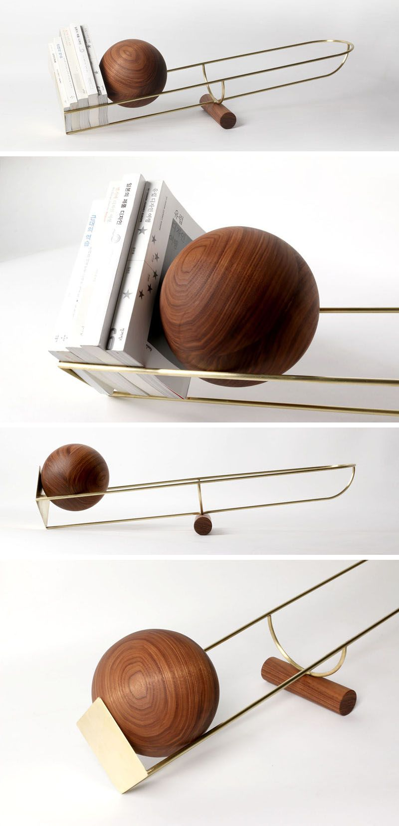 This Simple And Unique Bookshelf Is Designed Like A See Saw, With A Wooden