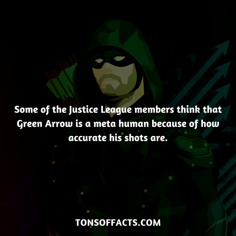 some of the justice league members think that green arrow is a meta