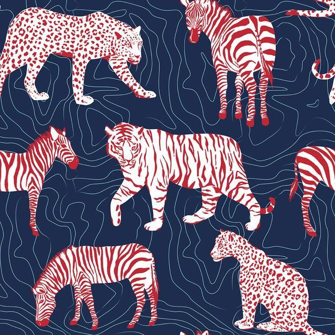Spots and Stripes Zebra wallpaper, Stripe removable