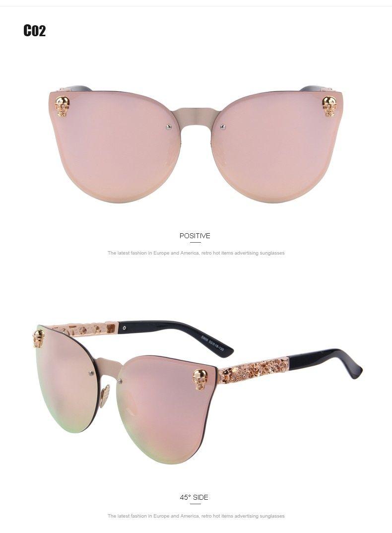 1db4071db $26.61 - Cool MERRY'S Fashion Women Gothic Eyewear Skull Frame Metal Temple Oculos  de sol UV400