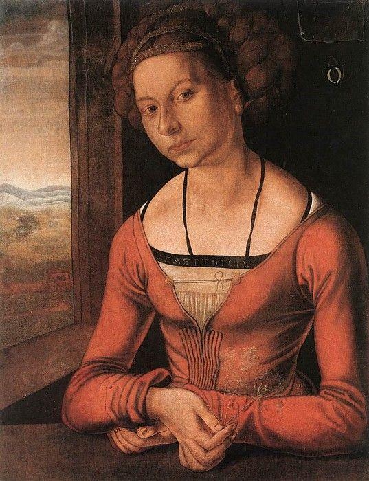 An Unknown Lady by Albrecht Durer, 1497. Staatliche Museen zu Berlin, Gemäldegalerie, Berlin, Germany