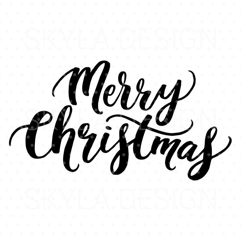 Merry Christmas Svg Christmas Svg File Christmas Clipart Svg Cutfile Hand Lettered Svg Christmas Quote Christmas Calligraphy Christmas Lettering Christmas Svg Files