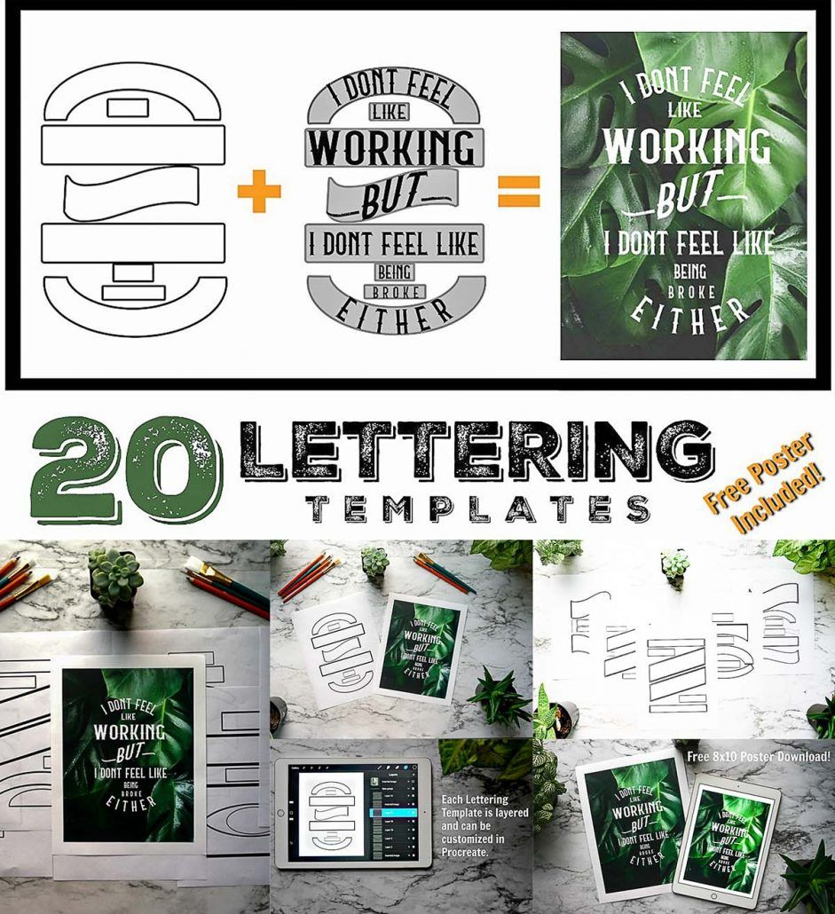 Lettering Composition Templates | Free download