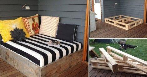 Aprende paso a paso cómo construir una cómoda cama para descansar al aire libre.