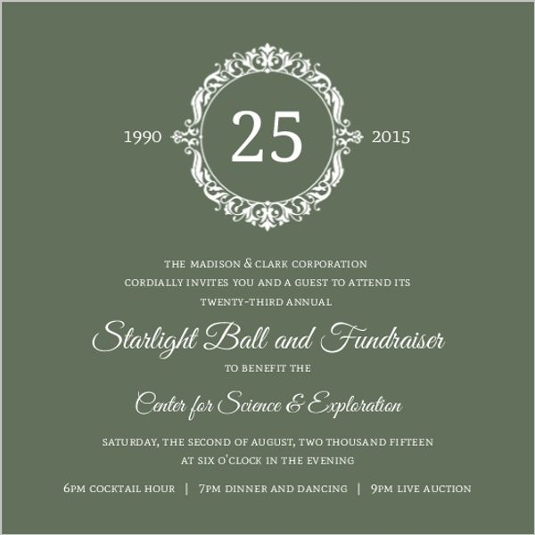Green elegant monogram business anniversary invitation boy scouts green elegant monogram business anniversary invitation stopboris Images