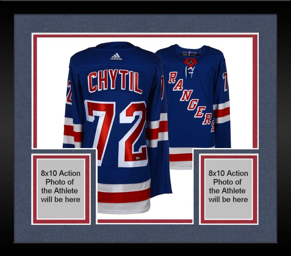 9e605b1f39d Framed Filip Chytil New York Rangers Autographed Blue Adidas Authentic  Jersey