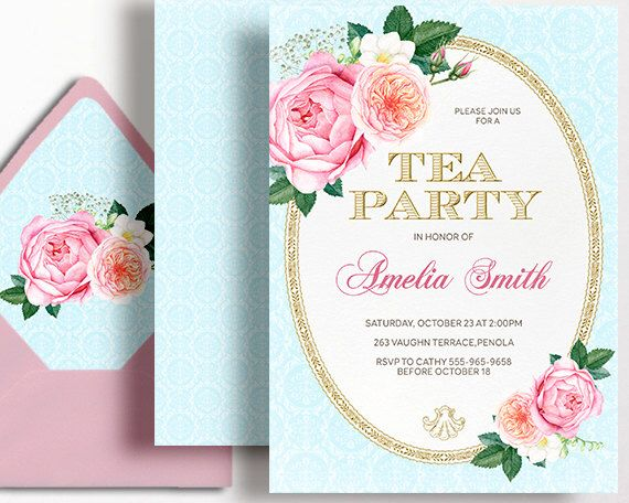 Tea party invitation high tea birthday party pink gold rose roses tea party invitation high tea birthday party pink gold rose roses afternoon tea high tea french stopboris Images