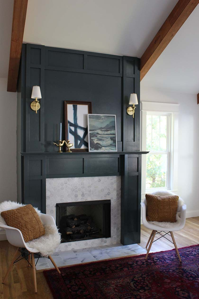 diy faux fireplace surround diy and crafts pinterest. Black Bedroom Furniture Sets. Home Design Ideas