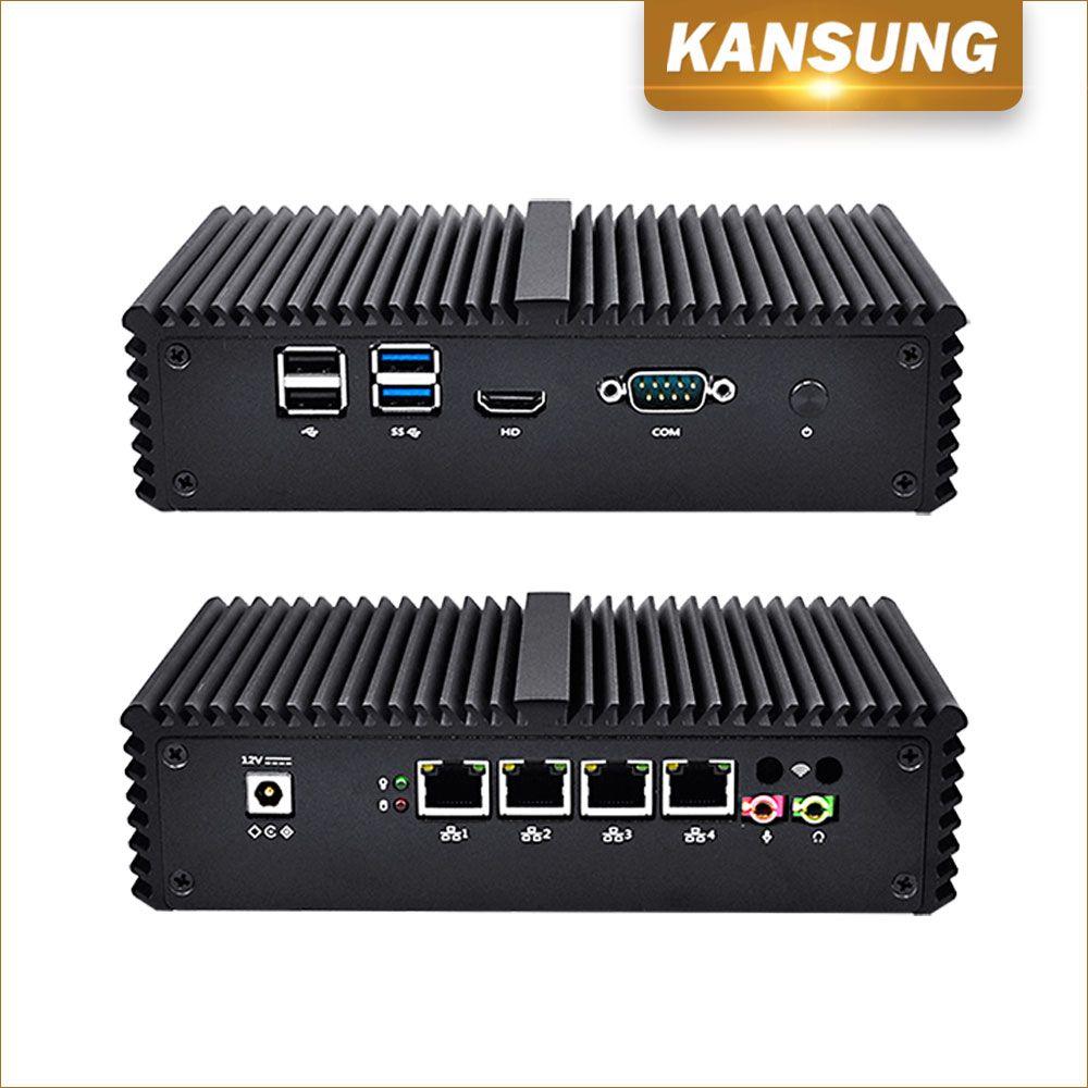 PC Computers Core i3 4005U Cheapest Mini PC 4 Lan Fanless