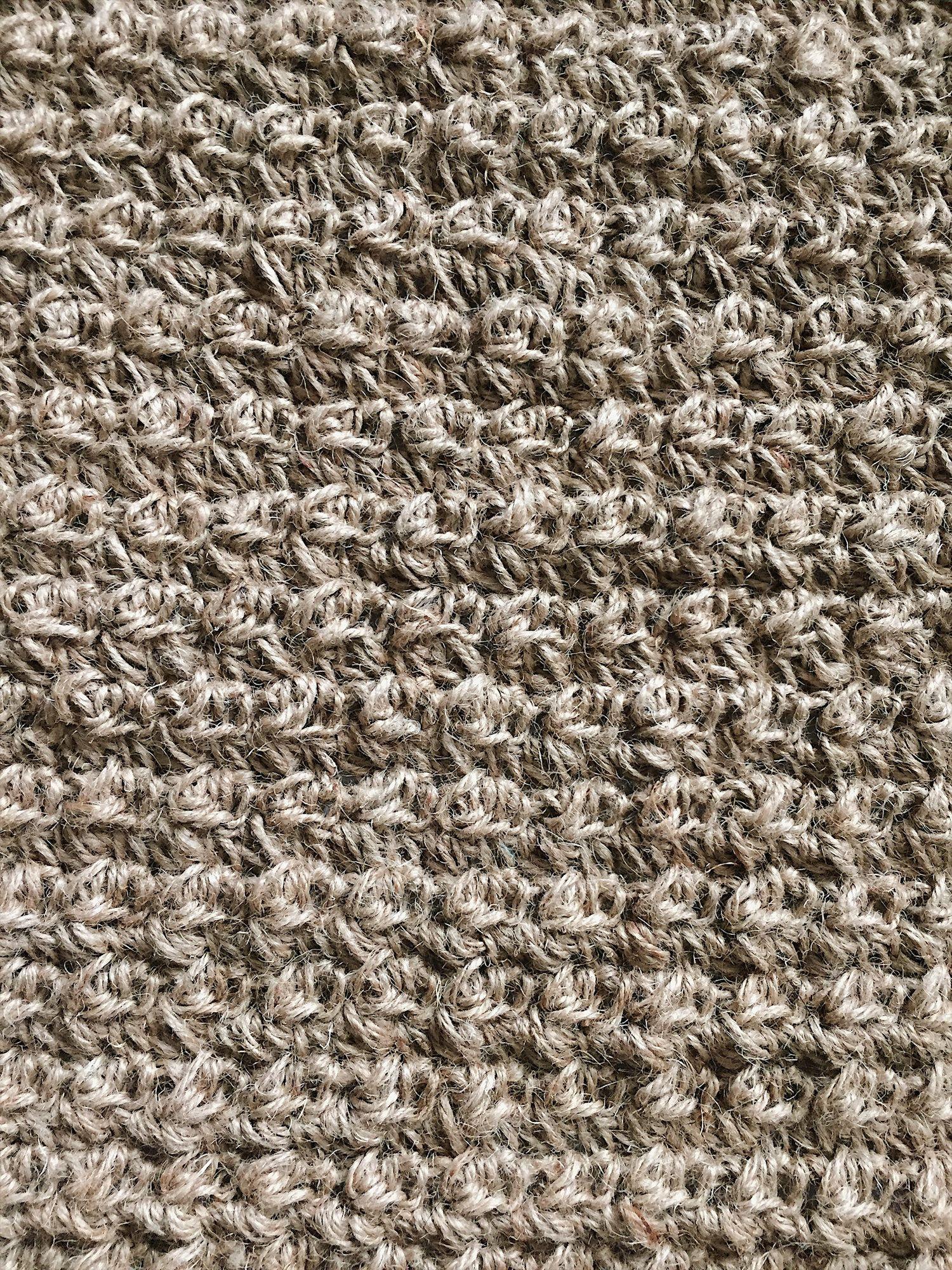 Free Crochet Pattern For A Textured Jute Rug Bathroom