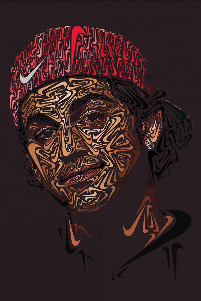 Nike Swoosh Portraits Of Paul Rodriguez Lebron James And Tiger