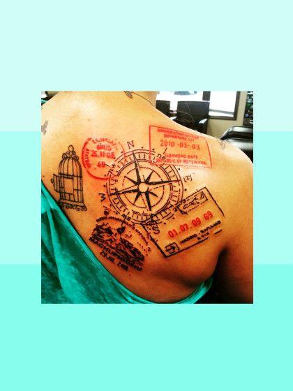 Nach Den Weltkarten Am Handgelenk Hat Ein Neues Tattoo Motiv