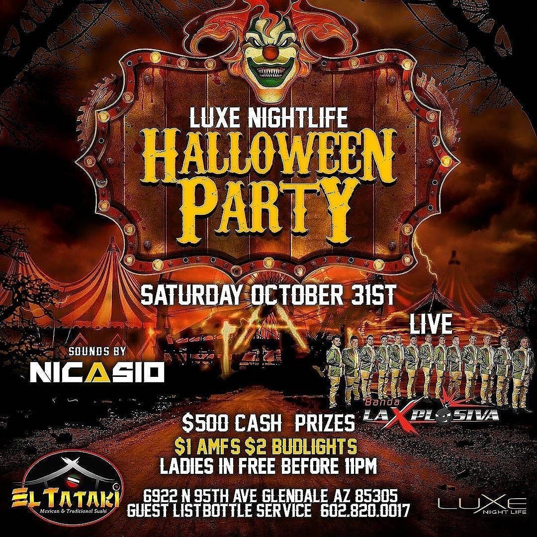 tonight halloween party with @dj_nicasio @bandalaxplosiva $100
