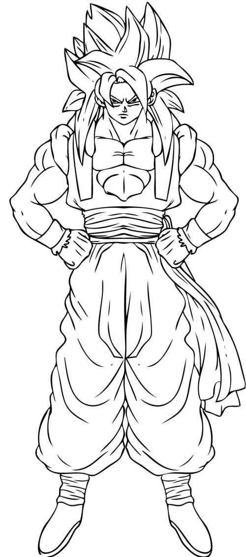 Dragon Ball Z Coloring Pages Online  DBZ   Pinterest