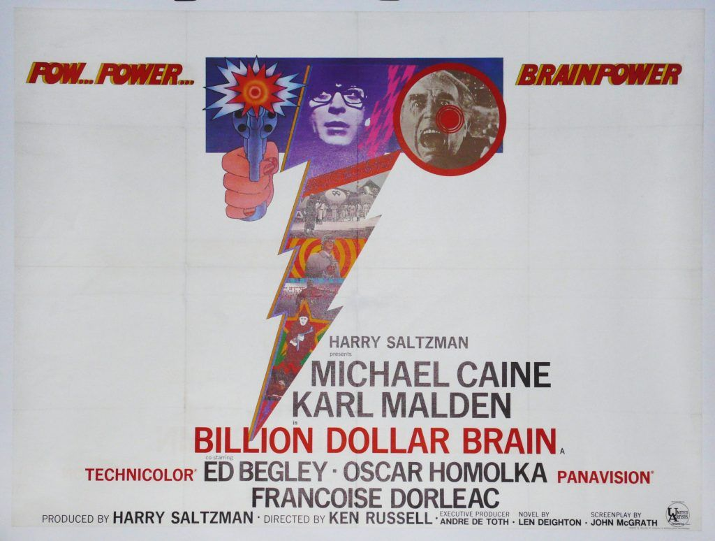 Billion Dollar Brain, Original UK Movie Poster, Michael Caine ...