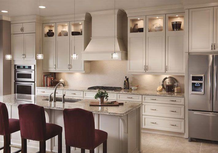 Kraftmaid Transitional Kitchen In White With Victoria Maple Door